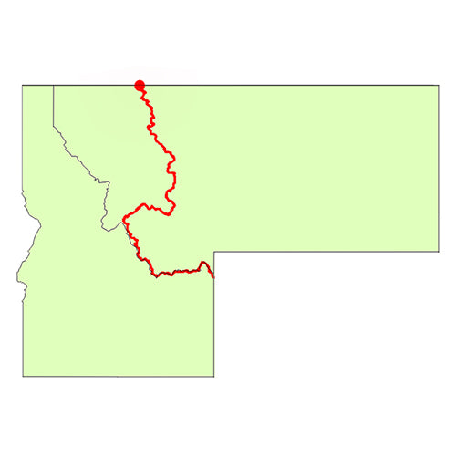 continental divide trail map - idaho
