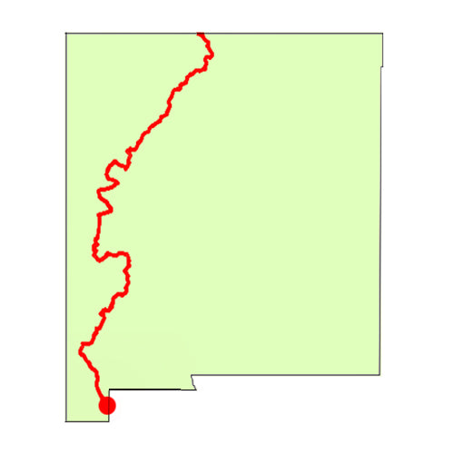 continental divide trail map - new mexico