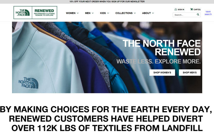 north face used backpacking gear