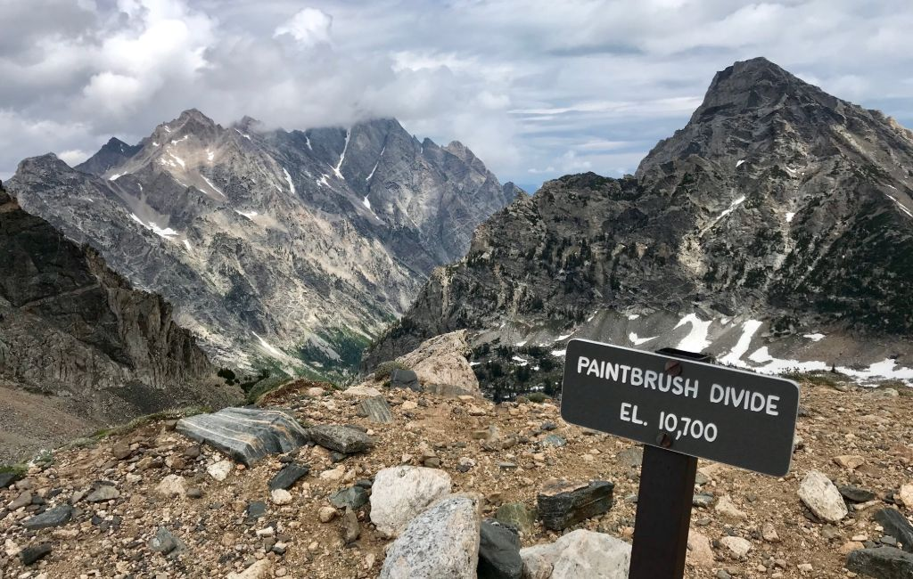 paintbrush divide trail sign on the tct