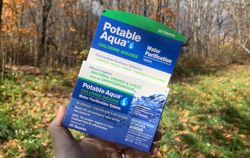 potable water purification tablets