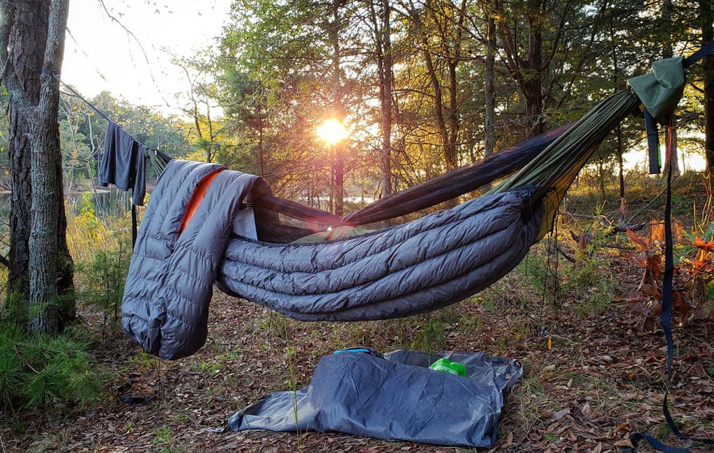 backpacking quilt for hammock