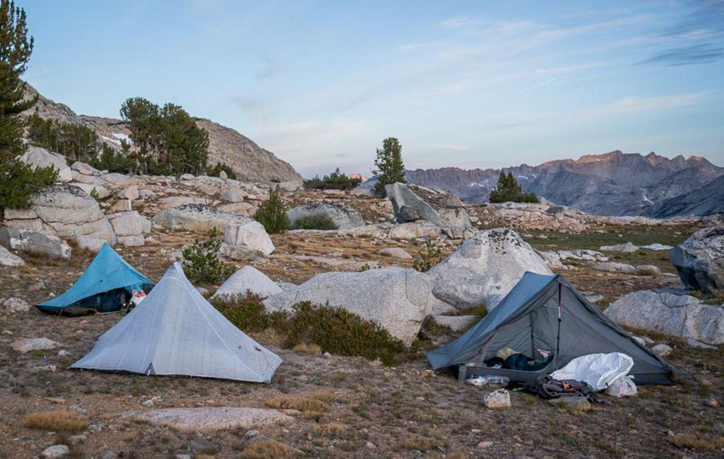 camping on the Sierra high route