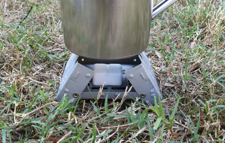 Mini Fishing Solid Fuel Cooker with 12 Free Fuel Cubes.