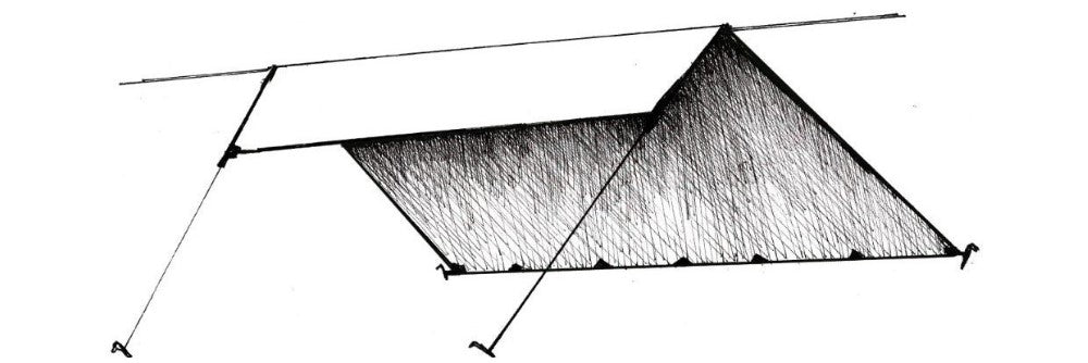 the lean-to ultralight tarp shelter configurations