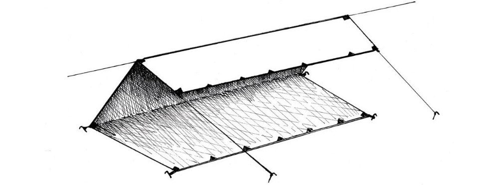 the c-fly wedge ultralight tarp shelter configurations