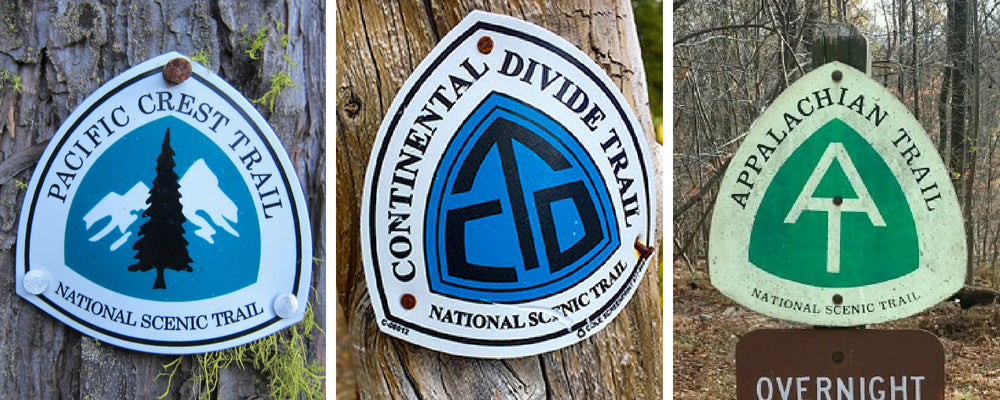 triple crown trail of hiking markers symbols
