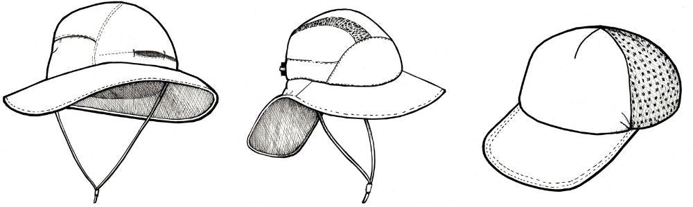 types of hiking hats