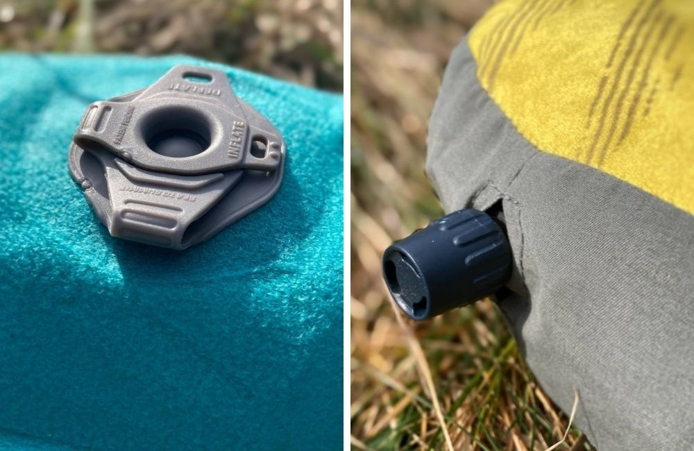 different backpacking pillow valves