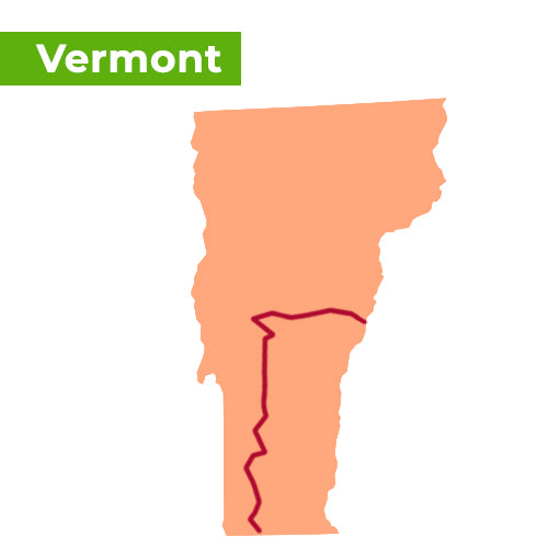 appalachian trail map vermont