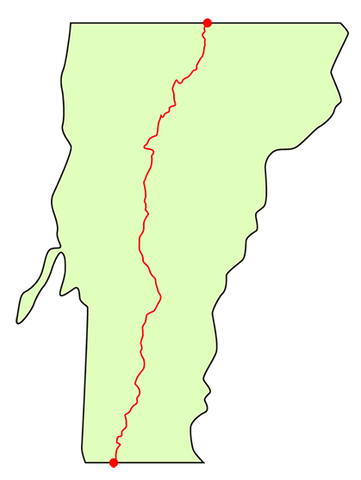 vermont long trail map