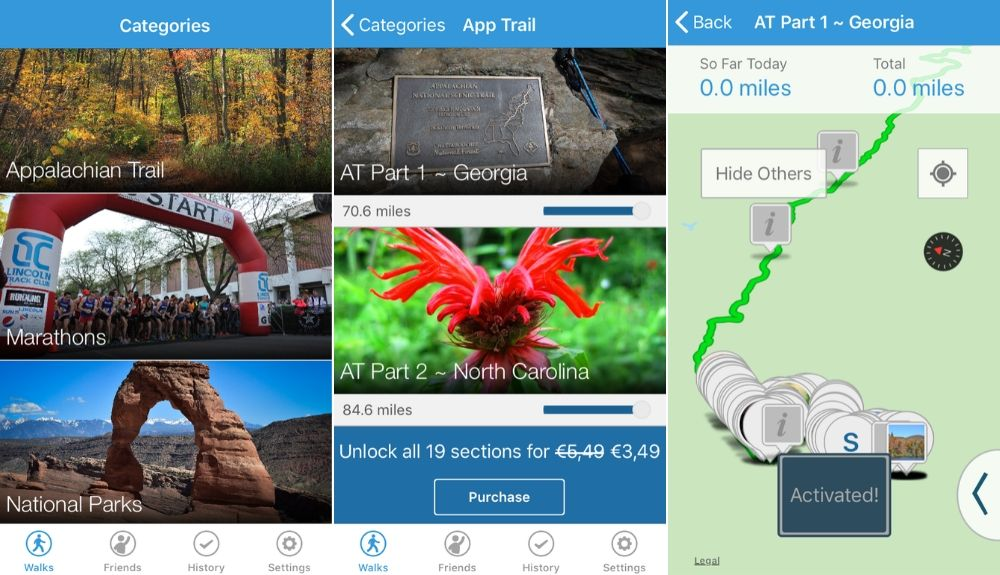 hiking app walk the distance