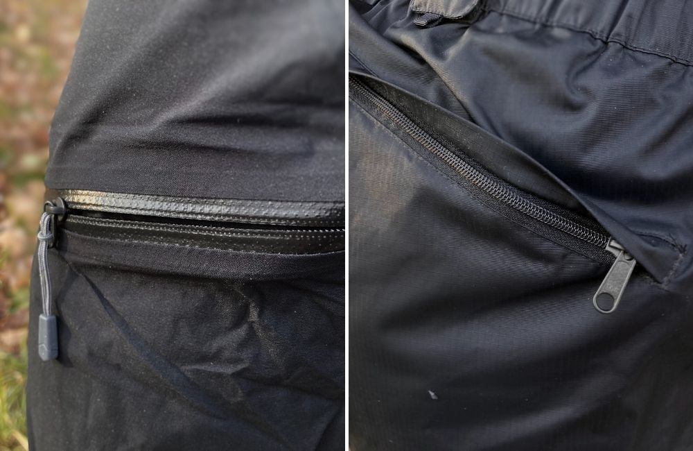 waterproof zippers on best rain pants