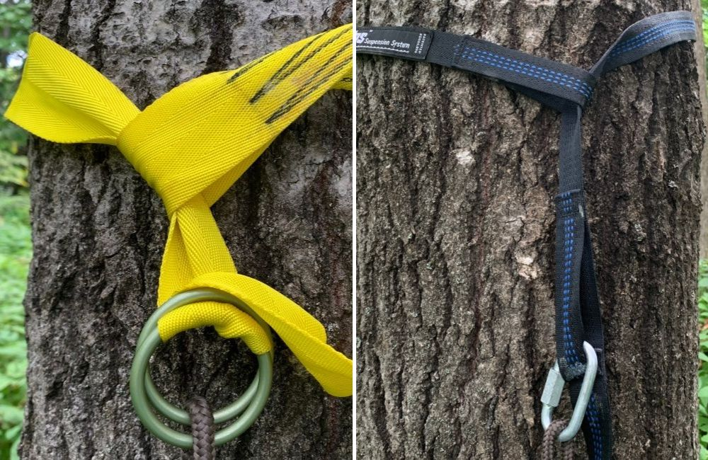 webbing vs. daisy chain straps for hammock camping