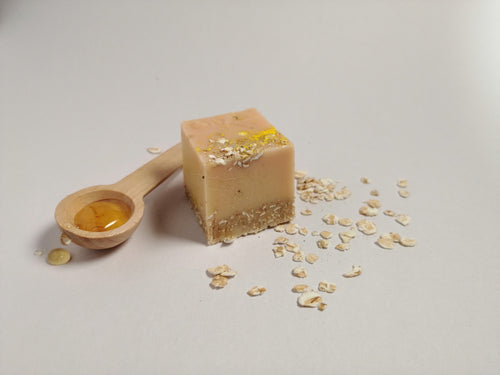 Oatmeal and Honey Natural Soap.