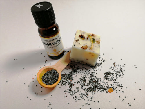 Lemon Verbena with Poppy Seeds Soap.