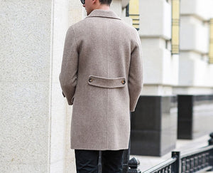 Men's fashion Double side wool trench coat