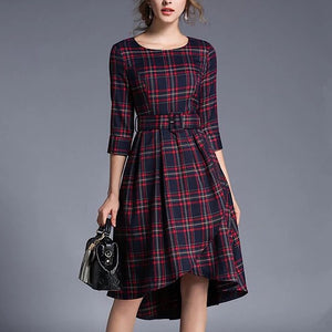 New England Plaid Dress