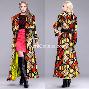Vintage Single-breasted Full lining plus size Jacket Coat DH8890