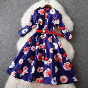 print Winter dress 2015 High quality colorful Cute women Clothing fashion Slim Autumn Dress lady plus size S XL elegance dresses #J442