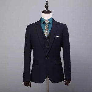 Real Image Custom Made Slim Fit Groom Tuxedo