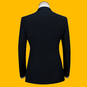 Plus Size Men Suits ( Jacket + Pants ) S-3XL