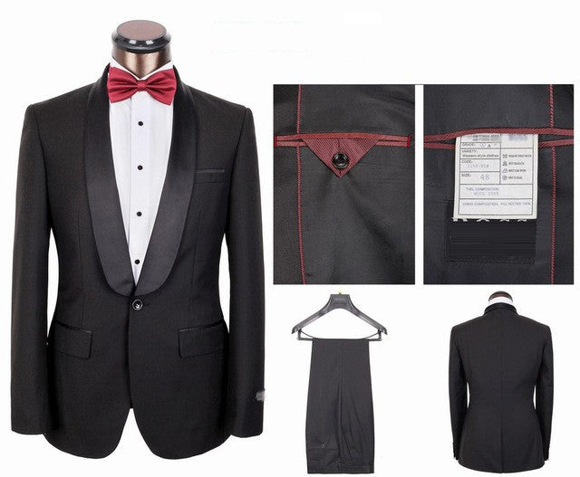 New Arrival Men's High Quality Tuxedos Dress Suit Gentlemen Formal Business Dress Suit Set (Jacket+pants+waistcoat) M888