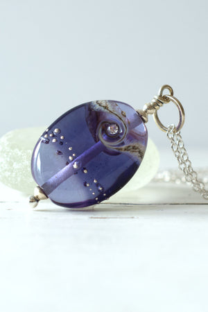 Purple Jewels Lampwork Bead PEnant