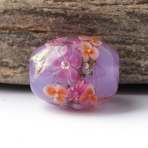 Floral Lampwork Beads