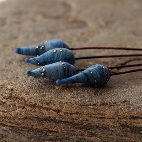 denim blue headpins