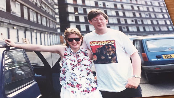 Judith & George elephant and Castle 1987