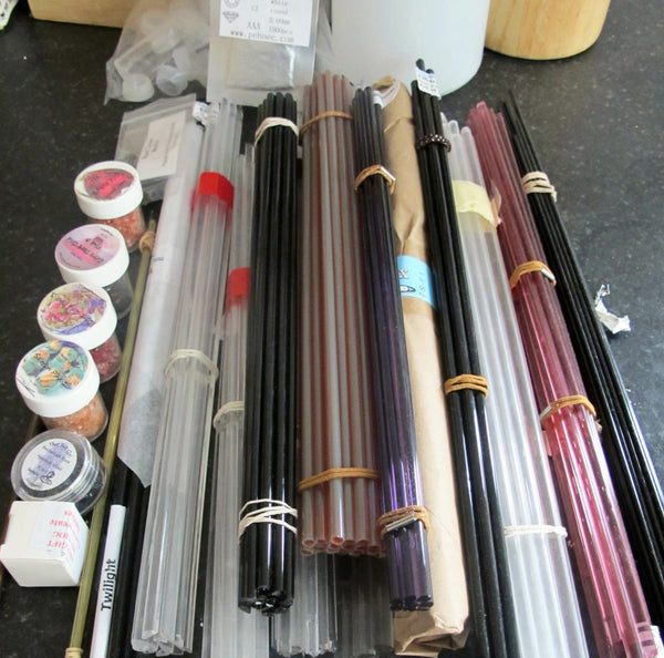 lampwork glass rods from Murano