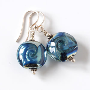 Blue lampwork Earrings