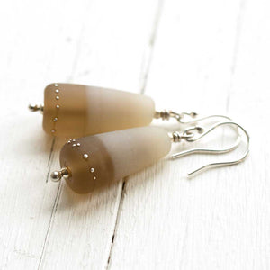 Duet Earrings in Sepia