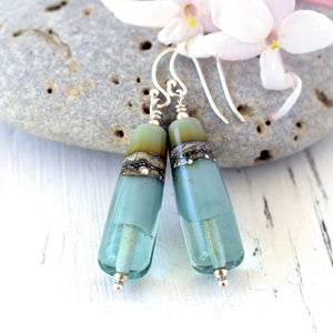 Duet Earrings in Eau De Nil - SOLD