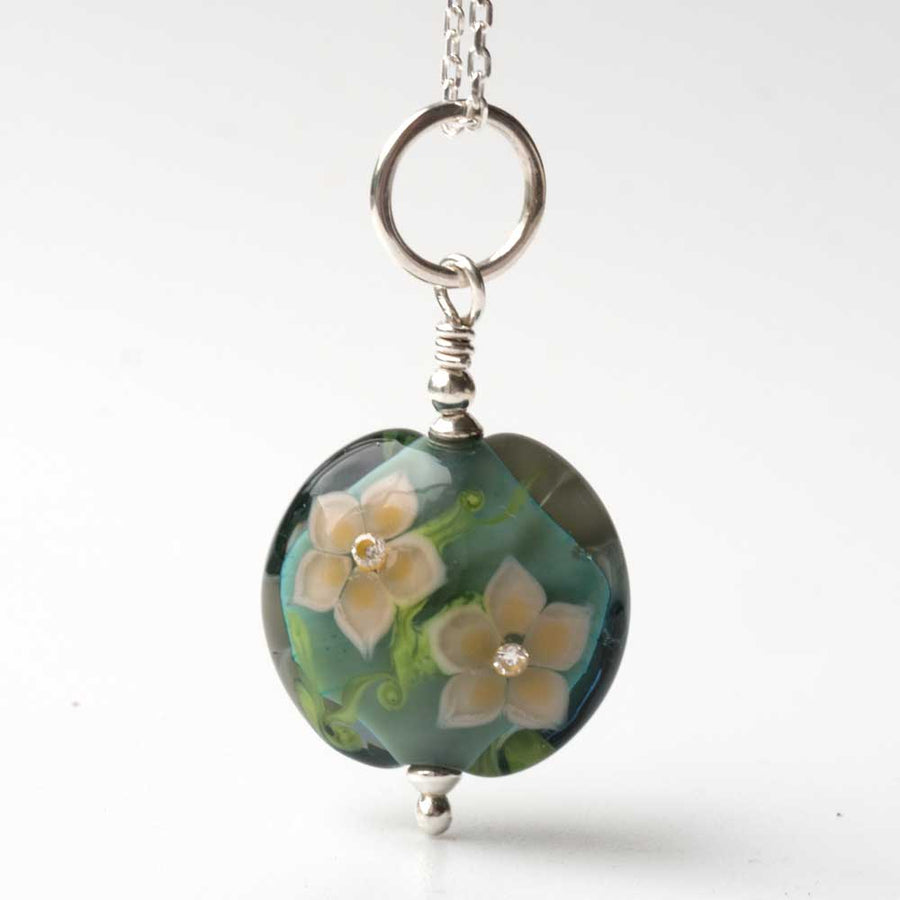 Flora Necklace in Sage Green