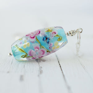 Blossom Butterfly Necklace - Summer in Turquoise