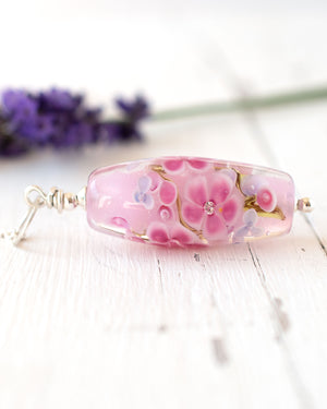 Amelie - Blossom Necklace in Pink