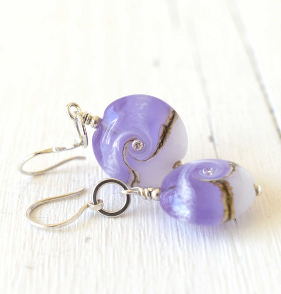 Circe Purple Earrings