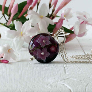 Purple Flora Necklace
