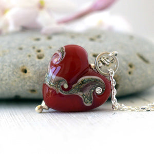 Love Heart in Scarlet Red