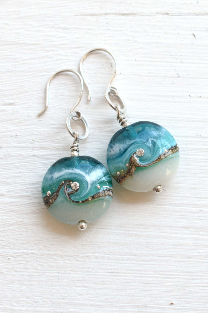 Circe Teal Earrings