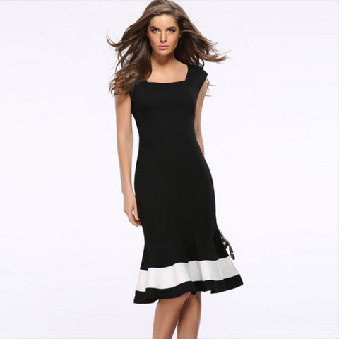 High Fashion Office Sleeveless Waist Summer