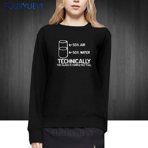 Funny Printed women winter autumn pullover hoodies Technically