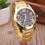 Brand Eyes Gold Geneva Casual Quartz Watch Women Stainless