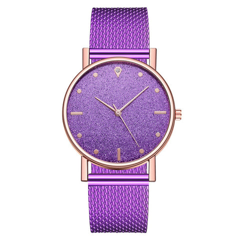 Watch Women Dress Stainless Steel Band Analog Quartz Wristwatch