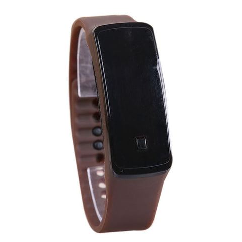 Fashion Sport LED Women Watches Candy Color Silicone Rubber