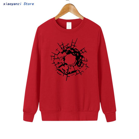 Bullet Holes Glass Art is here women sweatshirts Fashion
