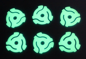 Glow in the Dark 45rpm Record Insert Adapters