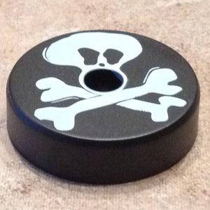 "Black ""Jolly Roger"" Turntable Adapter"